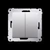 Łącznik krzyżowy podwójny bez piktogramu (moduł) 10AX 250V, szybkozłącza, srebrny mat, metalizowany-252312
