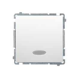 Łącznik schodowy z podświetleniem bez piktogramu LED nie wymienialny kolor: niebieski (moduł) 10AX 250V, szybkozłącza, biały-253