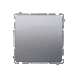 Łącznik krzyżowy bez piktogramu (moduł) 10AX 250V, zaciski śrubowe, inox, metalizowany-253558
