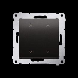 Łącznik/Przycisk roletowy podwójny elektroniczny antracyt 6A-252629