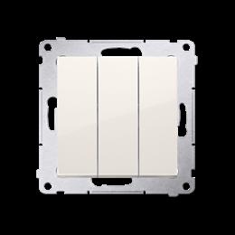 Łacznik potrójny z podświetleniem (moduł) 10AX 250V, szybkozłącza, kremowy-252226