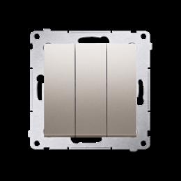 Łacznik potrójny z podświetleniem (moduł) 10AX 250V, szybkozłącza, złoty mat, metalizowany-252228