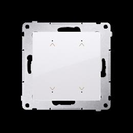 Łącznik/Przycisk roletowy podwójny elektroniczny biały 6A-252639