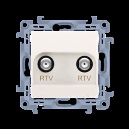 Gniazdo antenowe RTV-RTV końcowe kremowy-254482