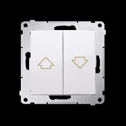 Przycisk żaluzjowy pojedynczy biały 16A-252580