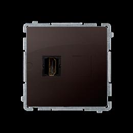 Gniazdo HDMI pojedyncze czekoladowy mat, metalizowany-254042