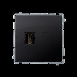 Gniazdo HDMI pojedyncze grafit mat, metalizowany-254040