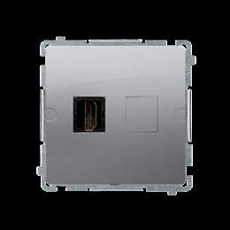 Gniazdo HDMI pojedyncze srebrny mat, metalizowany-254043