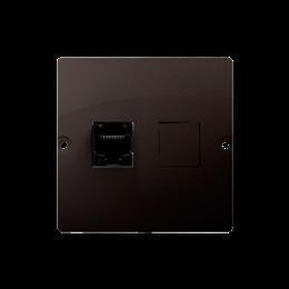 Gniazdo telefoniczne pojedyncze RJ12 (moduł) czekoladowy mat, metalizowany-254105