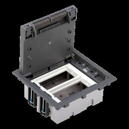Puszka podłogowa SF prostokątna 4×K45 2×S500 70mm÷105mm szary-255937