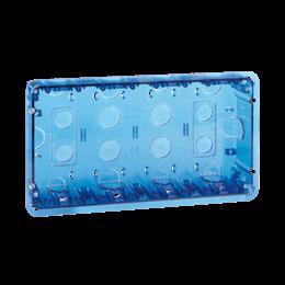 Puszka podtynkowa SIMON 500 4×S500 8×K45 niebieski transparentny-255736