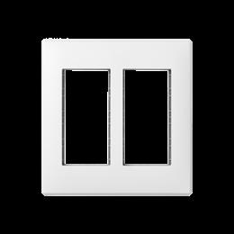 Ramka obudowy SIMON 500 2×S500 4×K45 czysta biel-255759