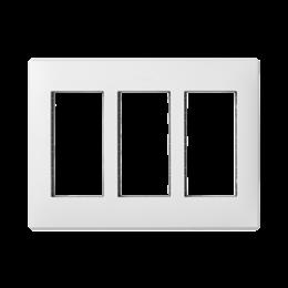 Ramka obudowy SIMON 500 3×S500 6×K45 czysta biel-255762