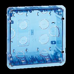 Puszka podtynkowa SIMON 500 2×S500 4×K45 niebieski transparentny-255734