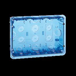 Puszka podtynkowa SIMON 500 3×S500 6×K45 niebieski transparentny-255735