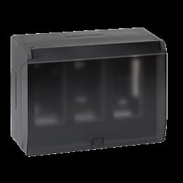 Obudowa natynkowa z pokrywą SIMON 500 3×S500 6×K45 szary grafit-255800