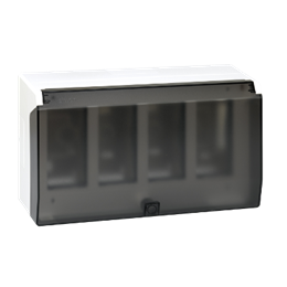 Obudowa natynkowa z pokrywą SIMON 500 4×S500 8×K45 czysta biel-255801
