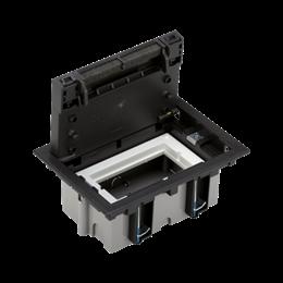 Puszka podłogowa SF prostokątna 2×K45 1×S500 70mm÷105mm szary grafit-255936