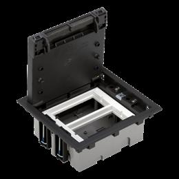 Puszka podłogowa SF prostokątna 4×K45 2×S500 70mm÷105mm szary grafit-255938