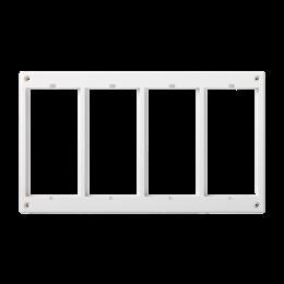 Ramka osprzętowa SIMON 500 4×S500 (element zapasowy) czysta biel-256018