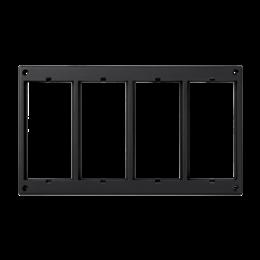 Ramka osprzętowa SIMON 500 4×S500 (element zapasowy) szary grafit-256019