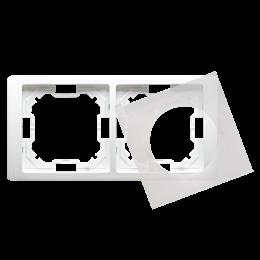 Ramka 2- krotna IP44 biały-253261