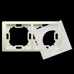Ramka 2- krotna IP44 beżowy-253262