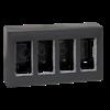 Obudowa natynkowa SIMON 500 4×S500 8×K45 szary grafit-255794