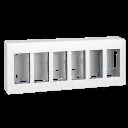 Obudowa natynkowa SIMON 500 6×S500 12×K45 czysta biel-255795