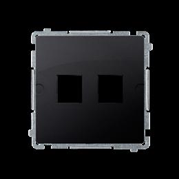 Pokrywa gniazd teleinformatycznych na Keystone płaska podwójna grafit mat, metalizowany-254172