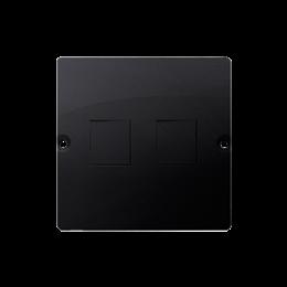Pokrywa gniazd teleinformatycznych na Keystone płaska podwójna grafit mat, metalizowany-254179