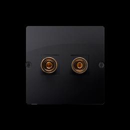 Gniazdo głośnikowe pojedyncze grafit mat, metalizowany-254032