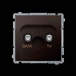 Gniazdo antenowe TV-DATA tłum.:5dB czekoladowy mat, metalizowany-253980
