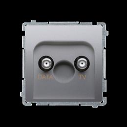 Gniazdo antenowe TV-DATA tłum.:5dB srebrny mat, metalizowany-253981