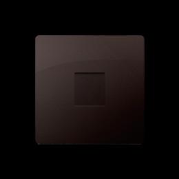 Zaślepka bez mostka czekoladowy mat, metalizowany-254317