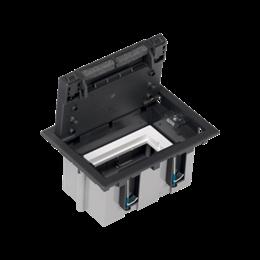 Puszka podłogowa SF prostokątna 2×K45 1×S500 93mm÷128mm szary grafit-255946
