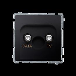 Gniazdo antenowe TV-DATA tłum.:5dB grafit mat, metalizowany-253982