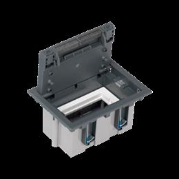 Puszka podłogowa SF prostokątna 2×K45 1×S500 93mm÷128mm szary-255945