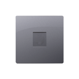 Zaślepka bez mostka srebrny mat, metalizowany-254316