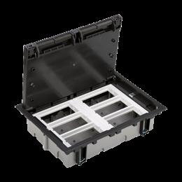 Puszka podłogowa SF prostokątna 12×K45 6×S500 70mm÷105mm szary grafit-255944