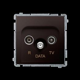 Gniazdo antenowe R-TV-DATA tłum.:10dB czekoladowy mat, metalizowany-253974