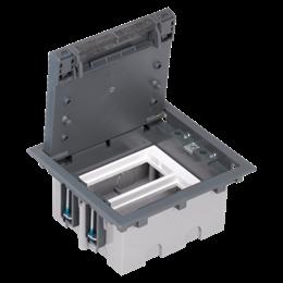 Puszka podłogowa SF prostokątna 4×K45 2×S500 93mm÷128mm szary-255947