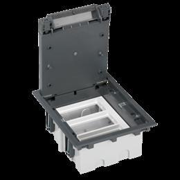 Puszka podłogowa SF prostokątna 6×K45 3×S500 93mm÷128mm szary-255949