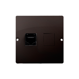 Gniazdo komputerowe pojedyncze RJ45 kategoria 5e (moduł) czekoladowy mat, metalizowany-254115