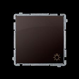 """Przycisk """"światło"""" (moduł) 10AX 250V, szybkozłącza, czekoladowy mat, metalizowany-253601"""
