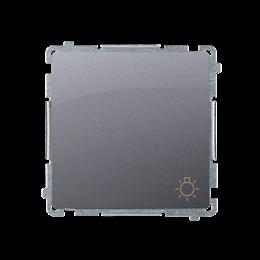 """Przycisk """"światło"""" (moduł) 10AX 250V, szybkozłącza, srebrny mat, metalizowany-253600"""