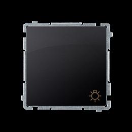 """Przycisk """"światło"""" (moduł) 10AX 250V, szybkozłącza, grafit mat, metalizowany-253599"""