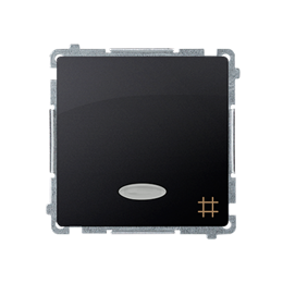Łącznik krzyżowy z podświetleniem LED nie wymienialny kolor: niebieski (moduł) 10AX 250V, szybkozłącza, grafit mat, metalizowany