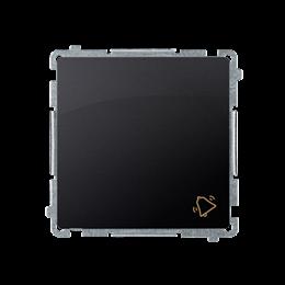 """Przycisk """"dzwonek"""" (moduł) 10AX 250V, szybkozłącza, grafit mat, metalizowany-253570"""