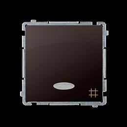 Łącznik krzyżowy z podświetleniem LED nie wymienialny kolor: niebieski (moduł) 10AX 250V, szybkozłącza, czekoladowy mat, metaliz